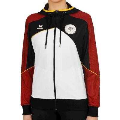 エリマ プレミアム ワン 2.0DTB トレーニングジャケット ホワイト ブラック レディース 2018