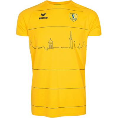 ラインネッカーレーヴェン スカイライン Tシャツ イエロー ジュニア 2017